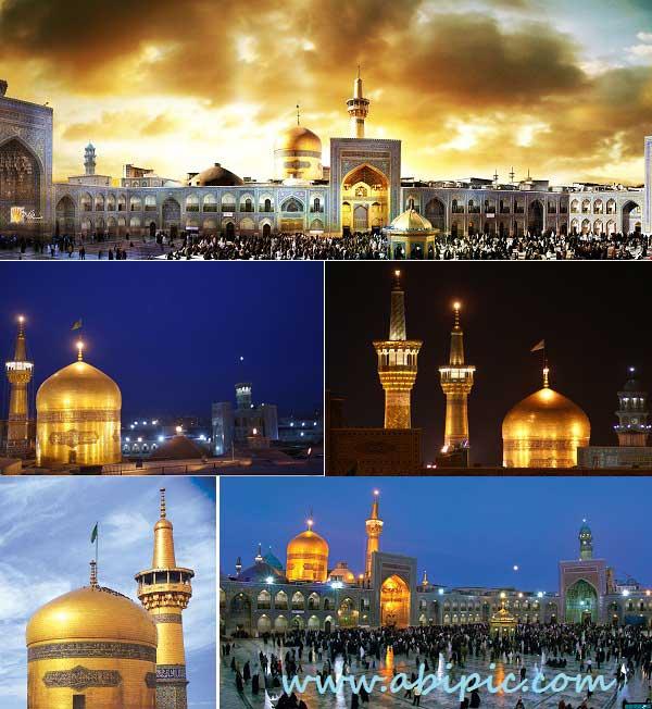 دانلود تصاویر با کیفیت بالا از حرم و گنبد امام رضا (ع)
