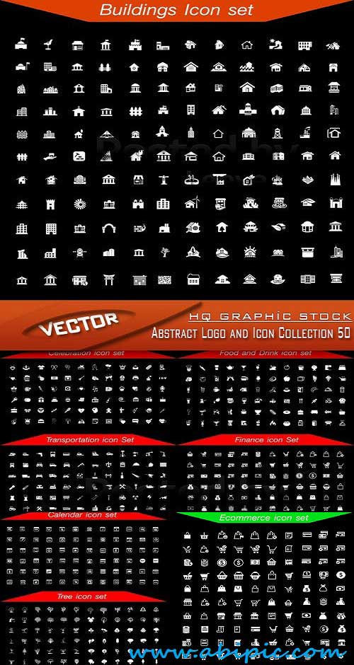 دانلود وکتور مجموعه آیکون ها و لوگو های ابسترکت Vector Abstract Logo and Icon Collection