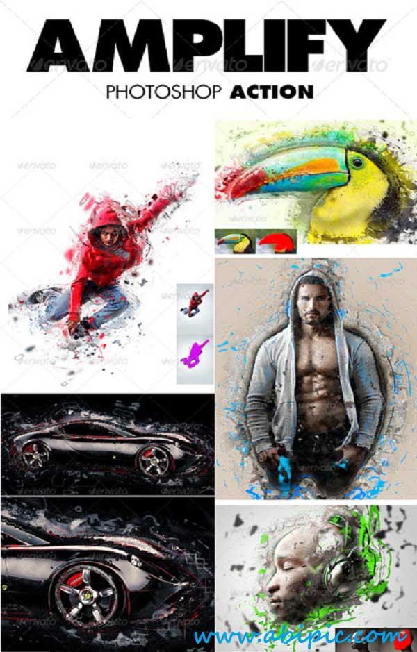 دانلود اکشن ایجاد افکت مسحور کننده بر روی عکس Amplify Photoshop Action