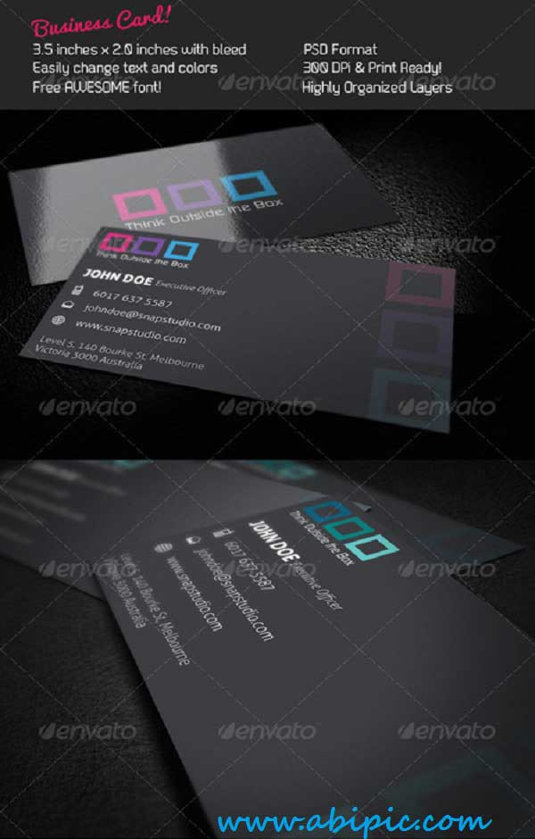 دانلود طرح لایه باز کارت ویزیت شماره 124 Business Card