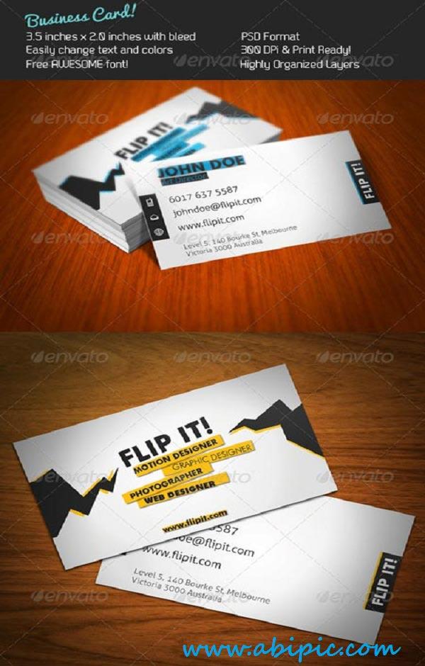 دانلود طرح لایه باز کارت ویزیت شماره 126 Designer Business Card