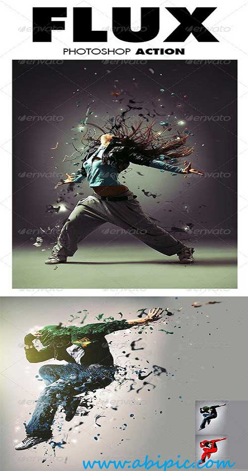 دانلود اکشن فتوشاپ تراوش (فلوکس) Flux Photoshop Action