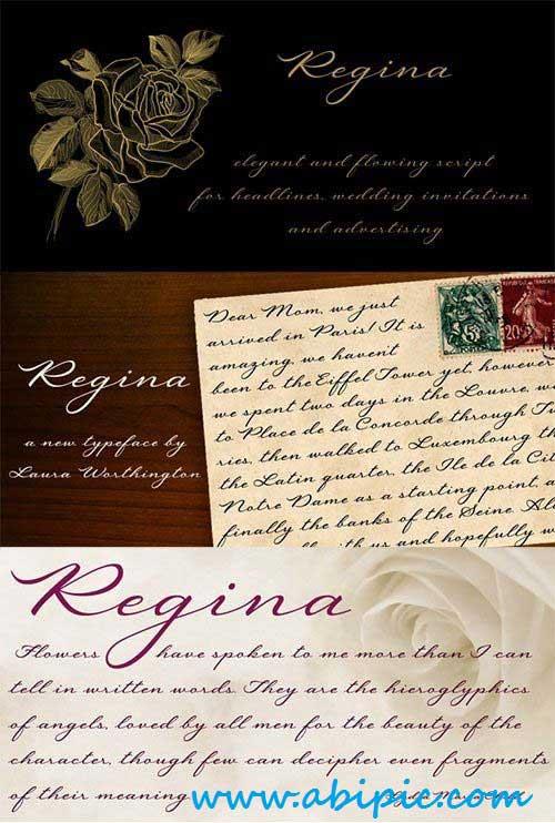 دانلود فونت انگلیسی رجینا Regina Font