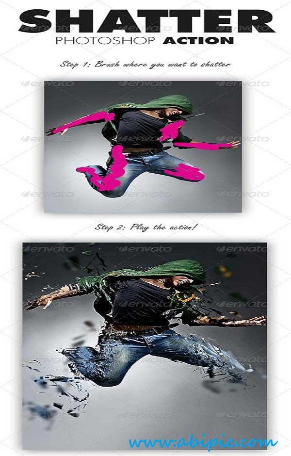 دانلود اکشن تکه تکه کردن عکس شماره 2 Shatter Photoshop Action