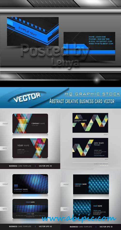 دانلود وکتور کارت ویزیت خلاقانه شماره 122 Vector Abstract creative business card