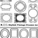 دانلود وکتور فریم و حلقه شماره 10 Vectors Stylish Vintage Frames