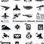 دانلود وکتور آیکون سیاه رنگ حمل و نقل Vectors Transport Black Icons