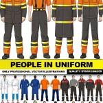 دانلود وکتور مردم در لباس کار People In Uniform