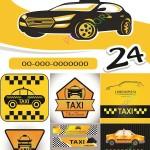 دانلود وکتور تاکسی و علائم آن Stock Vectors Taxi