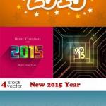 دانلود وکتور بکگراند سال 2015 میلادی Vectors New 2015 Year