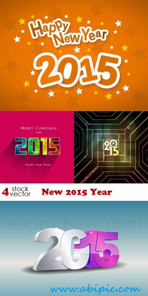 دانلود وکتور بکگراند سال نو مبارک Vectors New 2015 Year