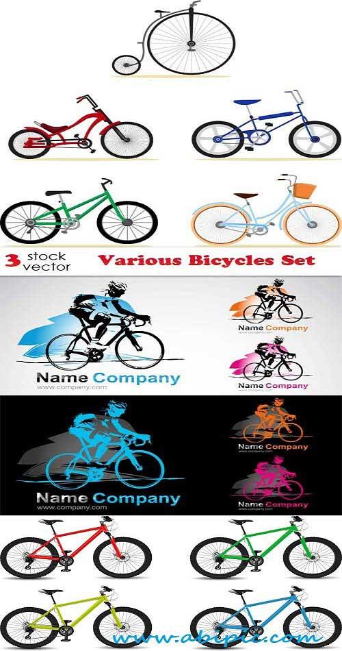 دانلود وکتور انواع دوچرخه Vectors Various Bicycles