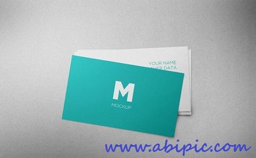 دانلود طرح لایه باز موک آپ و پیش نمایش کارت ویزیت Business Card Mock-up