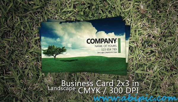 دانلود کارت ویزیت لایه باز با طرح منظره Landscape Business Card PSD Template