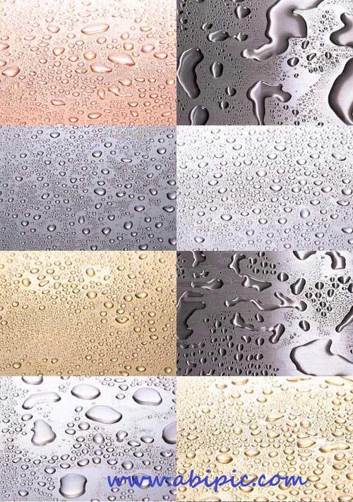 دانلود تکسچر قطره آب روی سطح Drops of Water Textures