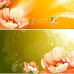 دانلود وکتور تصاویر پس زمینه گلدار سری 57 Vector Floral background