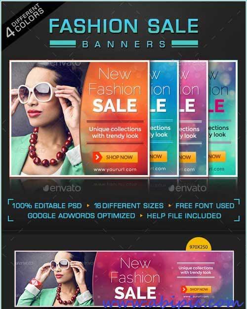 دانلود بنر فروشگاهی لایه باز فشن Fashion Sale Banners