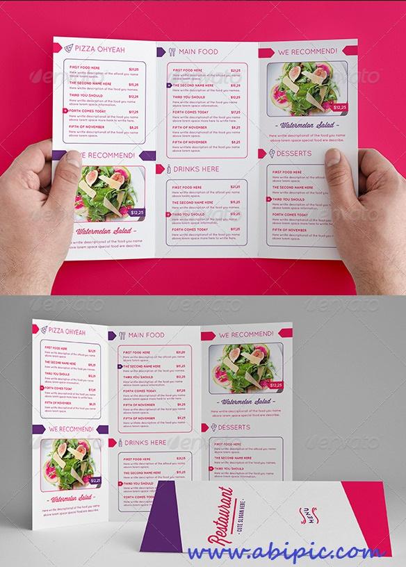 دانلود وکتور ست و منو رستوران شماره 5 Design Food Menu
