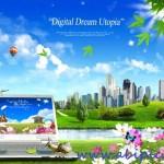 دانلود سورس لایه باز فتوشاپ شماره 66 Digital Dream Utopia Photoshop PSD sources