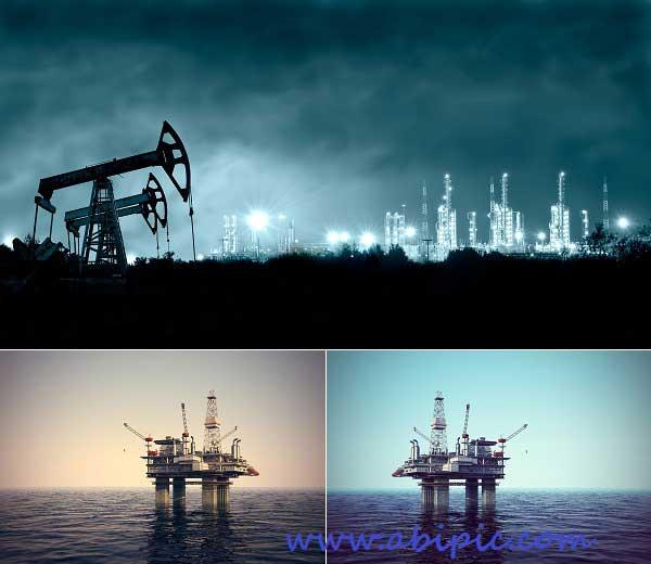 دانلود تصاویر استوک استخراج نفت و سکو های نفتی Extraction of oil