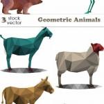 دانلود وکتور تصاویر هندسی و ژئومتریک حیوانات Vectors – Geometric Animals
