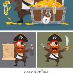 دانلود وکتور کارکتر دزد دریایی Character Set – Pirate Vector