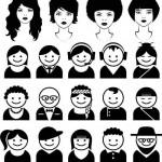 دانلود وکتور آدمک های سیاه برای آواتار Vectors – Black People Avatars