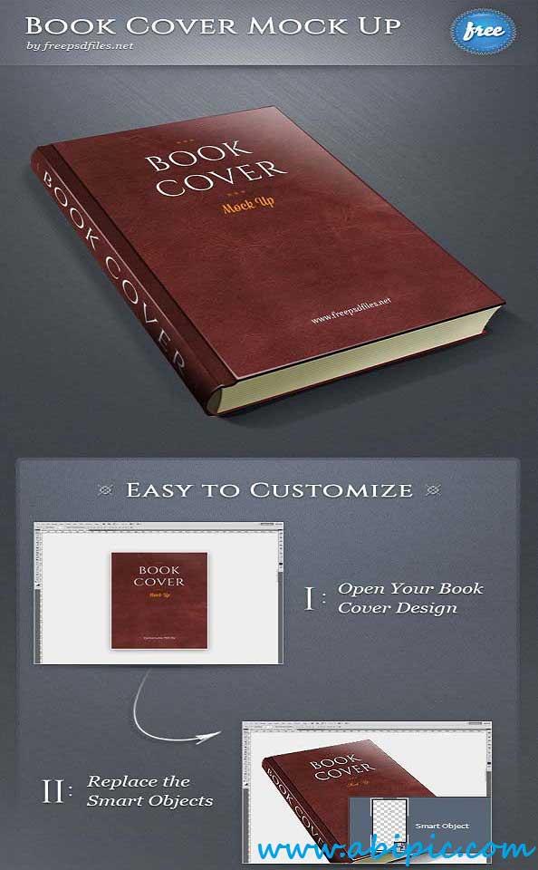 دانلود طرح لایه باز موک آپ کتاب شماره 3 Book Cover PSD Mockup