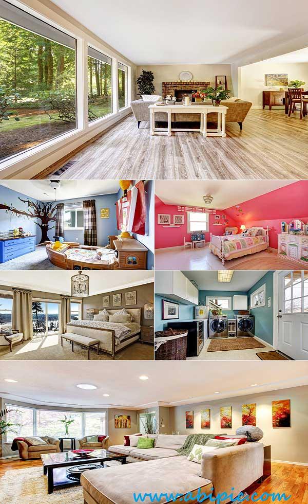 دانلود تصاویر استوک دکوراسیون لوکس و مدرن داخل خانه Modern Luxury House Interior