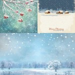 دانلود وکتور پس زمینه فصل زمستان Winter Nature Backgrounds Vector