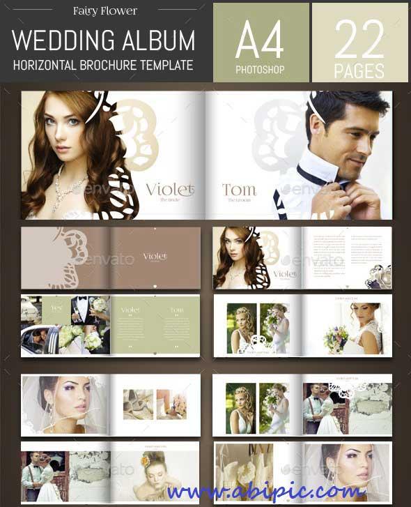 دانلود طرح لایه باز فون و آلبوم عکس عروسی شماره 7 Wedding Photo Album Template