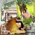 دانلود فریم و قاب عاشقانه طراحی شده با شکوفه های بهاری Frames for Photo – Blossoming Trees