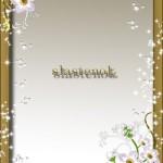 دانلود فریم زیبای عکس فتوشاپ طراحی شده با گل و فریم طلایی Symphony of the soul