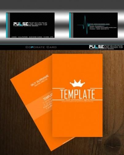 دانلود تصویر لایه باز کارت ویزیت Business Card Template