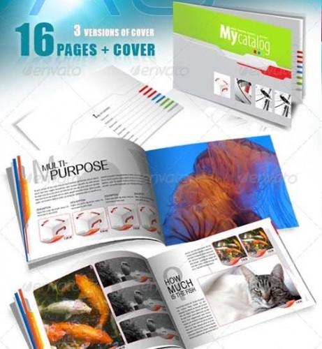 دانلود کاتالوگ ایندیزاین سایز A5 مناسب برای کارهای متفاوت A5 Catalog for Multiple Purposes