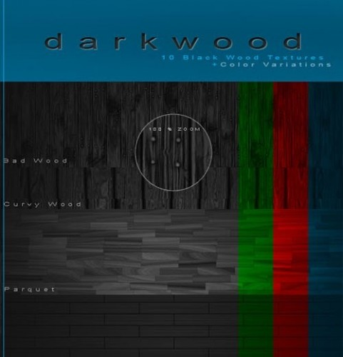دانلود 10 تصویر با بافت تیره چوب برای فتوشاپ Black Wood Textures Pack