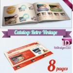 دانلود طرح آماده کاتالوگ برای ایندیزاین Catalog Template – Retro Vintage