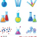 دانلود وکتور ابزار و لوازم آزمایشگاهی و شیمیایی Chemical Stuff Vector