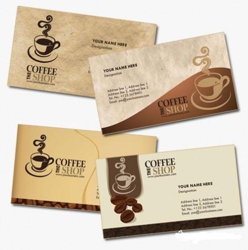 دانلود کارت ویزیت مخصوص کافی شاپ Coffee Shop Business Cards
