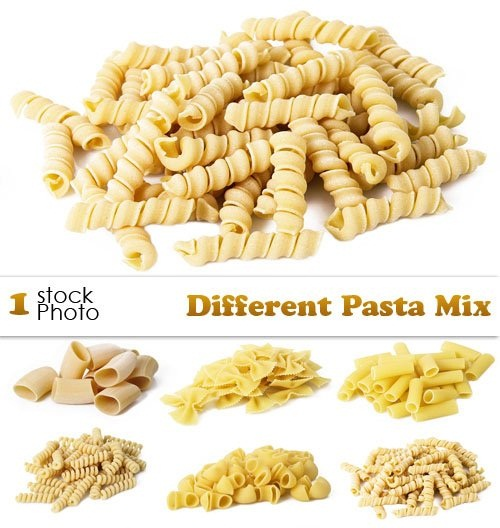 دانلود تصاویر استوک از انواع مختلف پاستا Different Pasta Mix