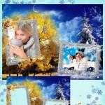 دانلود فریم و قاب عکس زمستانی وپاییزی Frame – autumn, winter