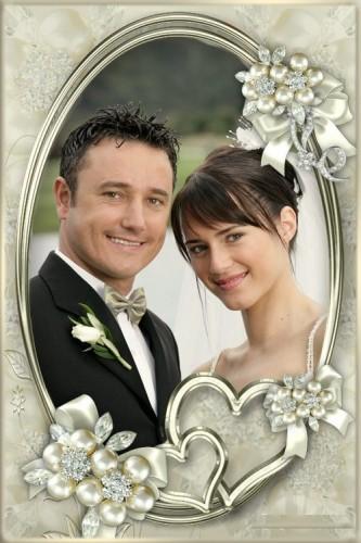 دانلود قاب عکس ازدواج فوق العاده زیبا Frame for Photoshop - Simple frame for wedding