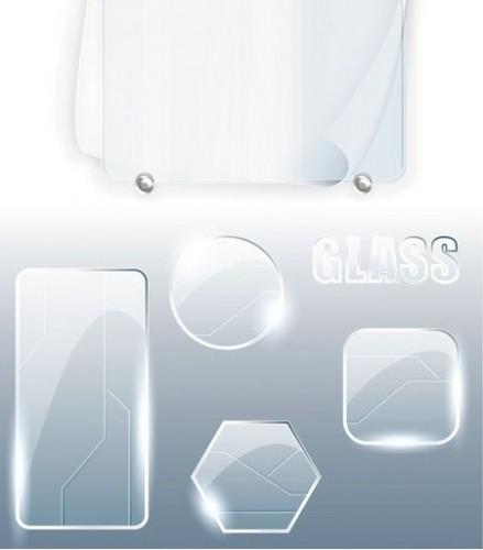 دانلود فایل وکتور بنرهای با بافت شیشه ای Glass Banners Vector