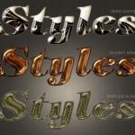 دانلود استایل های شیشه ای برای فتوشاپ سری جدید Glass Styles