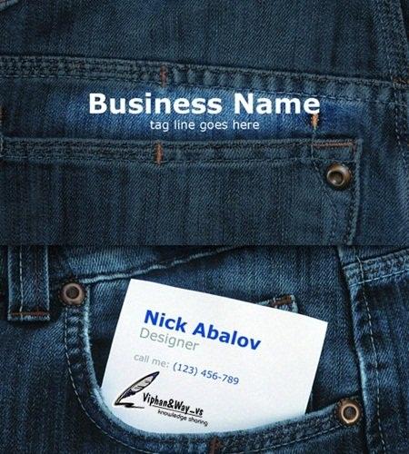 دانلود کارت ویزیت مخصوص فروشنده های لباس Jeans business card