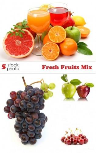 دانلود تصاویر استوک از میوه های تازه  Photos - Fresh Fruits Mix