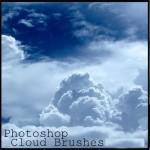 دانلود 2 براش ابر فتوشاپ Photoshop Clouds Brushes
