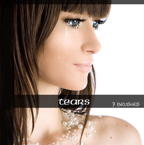 دانلود براش زیبای اشک برای فتوشاپ Tears Brushes