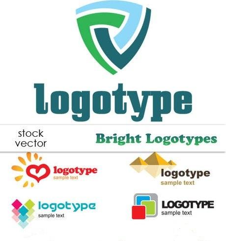 دانلود مجوعه از لوگوهای وکتوری زیبا Vectors - Bright Logotypes