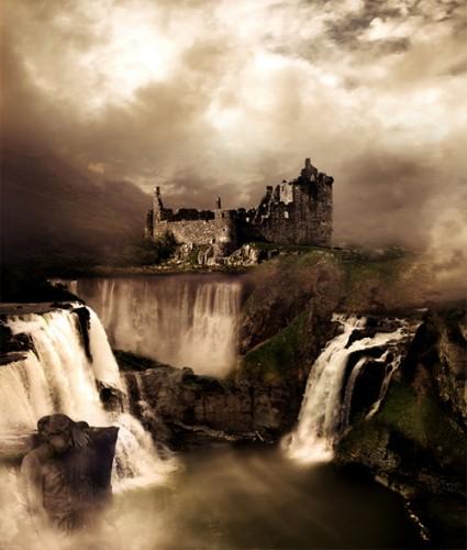 آموزش ساخت منظره فانتزی با استفاده از روش ترکیب تصاویر How to Create a Fantasy Landscape Photo Manipulation